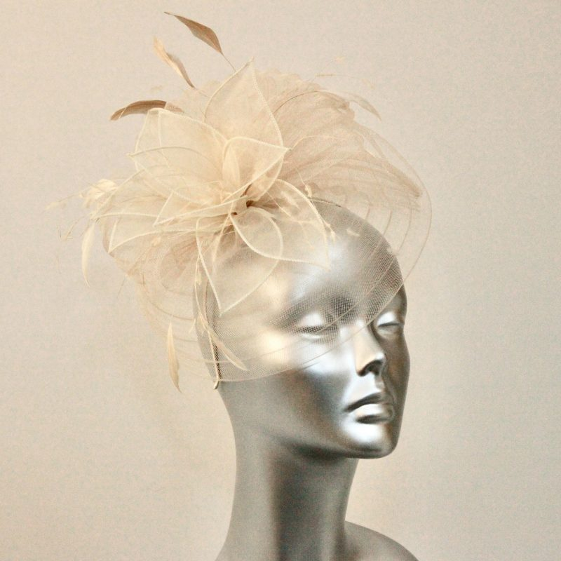 Mother of the Bride almond fascinator