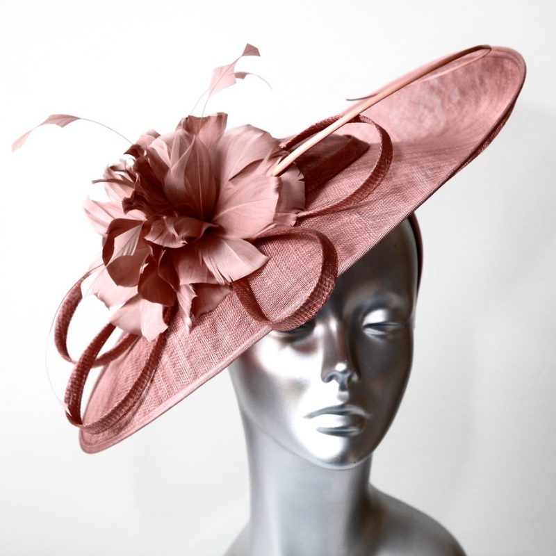 Dark Dusky Pink Mother of the Bride/Groom hatinator