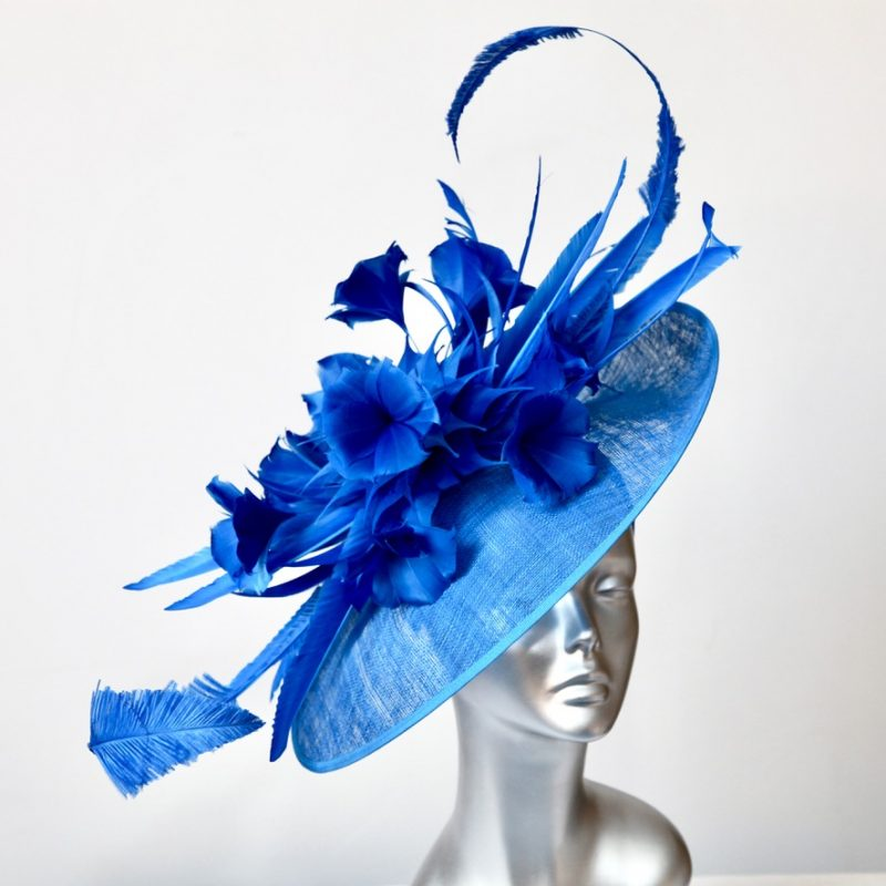 Ribbon Blue statement Mother of the Bride/Groom hatinator
