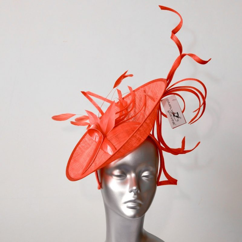 Hot Coral Mother of the Bride/Groom hatinator