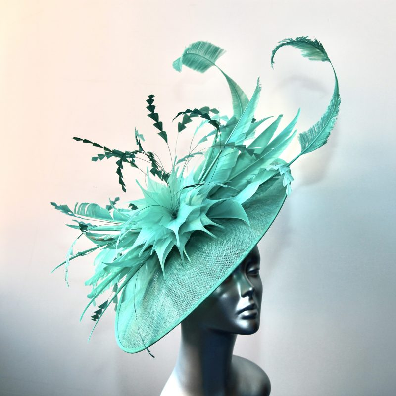 Sea Green wedding hatinator