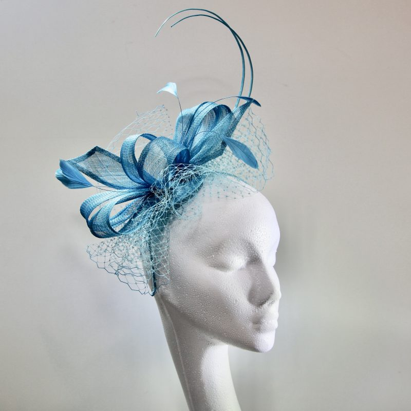 Caraibe Blue mother of the bride/groom fascinator