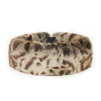 Faux fur jaguar huff