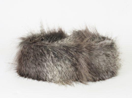 Faux fur mountain wolf huff