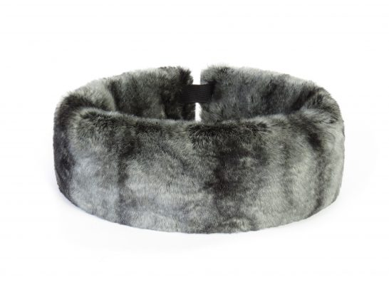 Slate grey fur huff