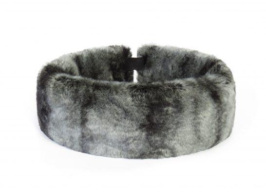 Slate grey fur huff