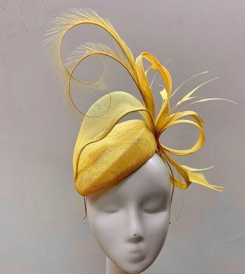 Ladies Lemon Structured Hats, Hatinators and Fascinators