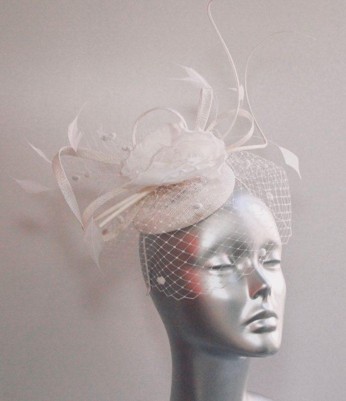 Ladies White Bridal Hats and Fascinators