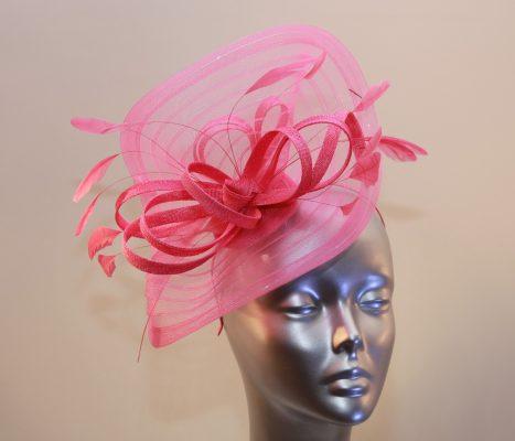 Hot pink Ladies hats, fascinators andhatinator