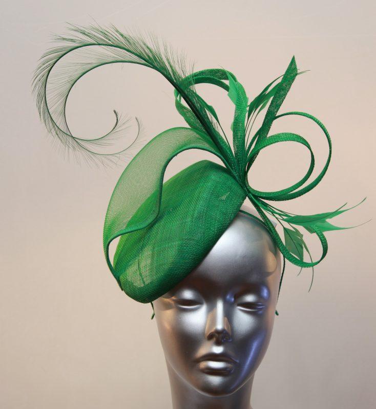 Emerald Green Mother of the Bride/Groom pillbox