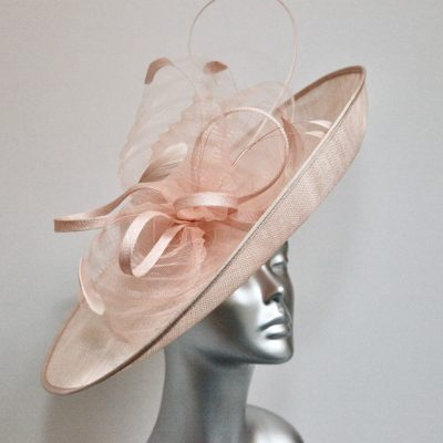 Dusky pink wedding hatinator
