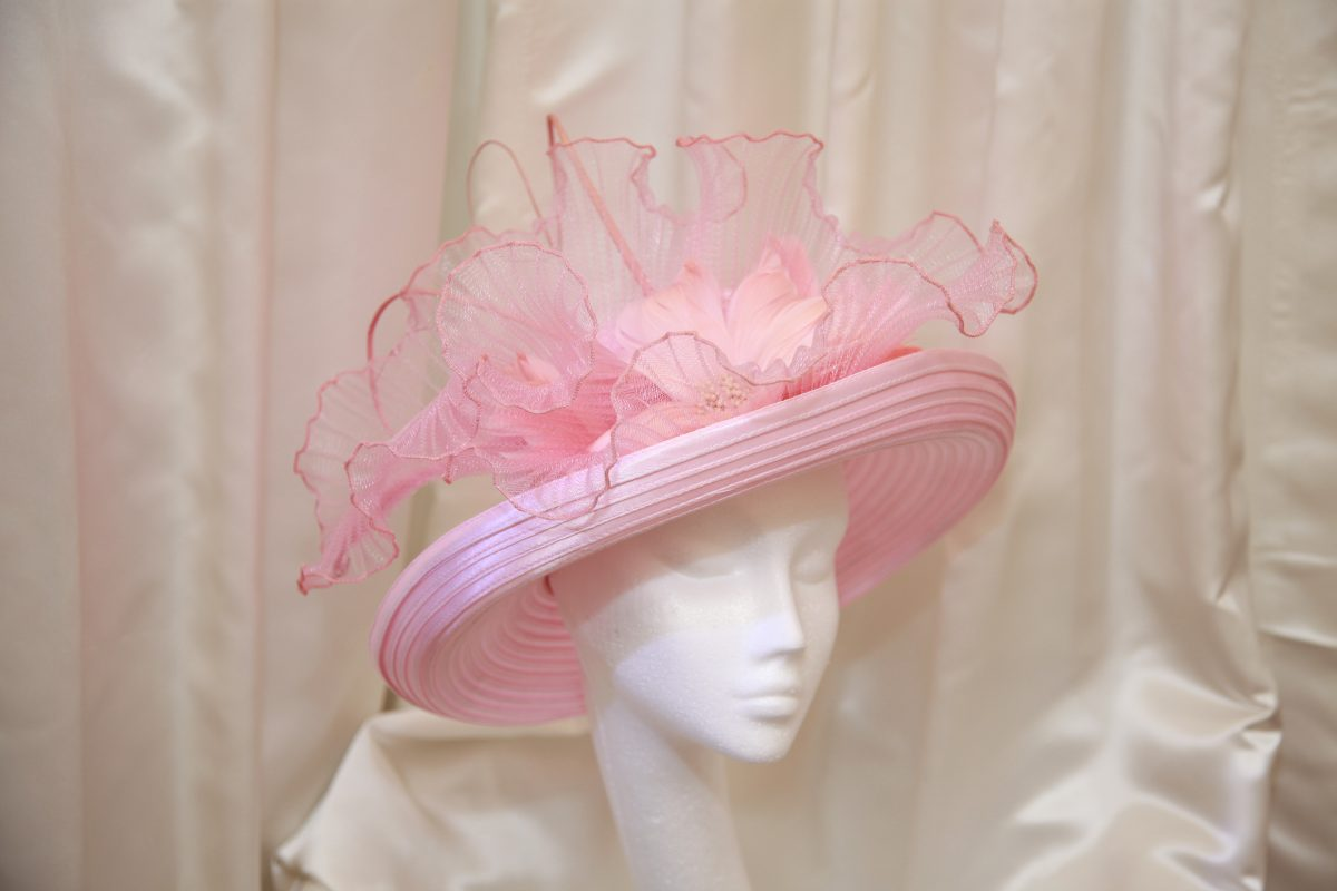 Pink Satin Mother of the Bride Hat