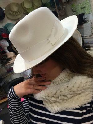 Simply Devine white winter hats