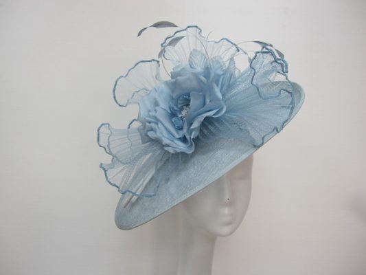 Blue mother of the bride/groom hatinator