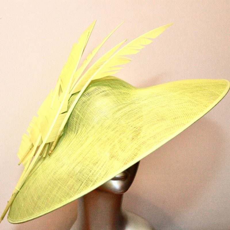Lime green hats and fascinators