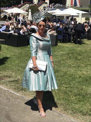 A stunning pillbox to match an Ian Stuart dress